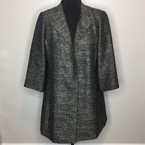Eileen Fisher jacket black and gold size L
